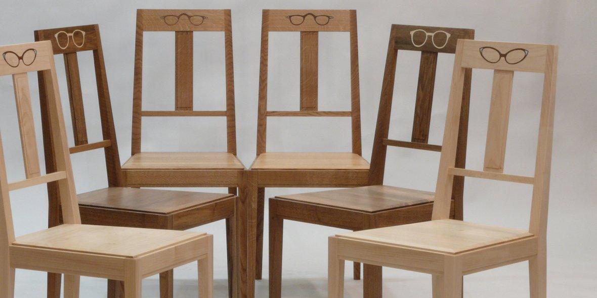 Stühle Design mit Intarsien