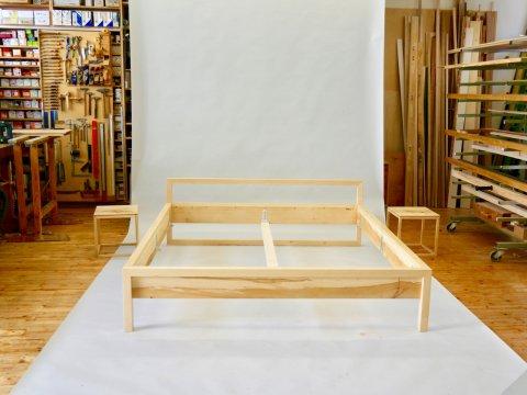 Doppelbett Ahorn